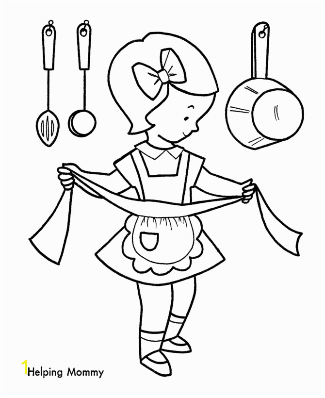 Making Christmas Cookies Coloring Page