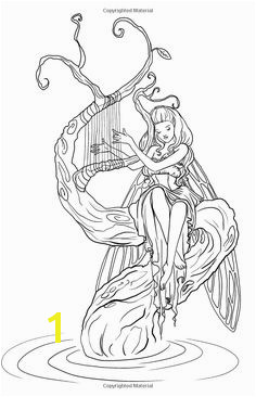 Mythical Mystical Legend Elf Elves Dragon Dragons Fairy Fae Wings Fairies Mermaids Mermaid Siren Sword Sorcery Magic Witch Wizard Adult Coloring Page
