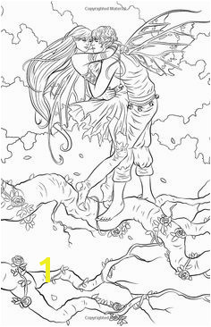 Artist Selina Fenech Fantasy Coloring pages colouring adult Fairy in love