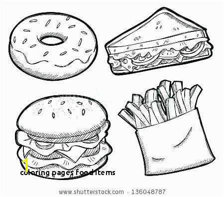 Coloring Pages Food Items Healthy Food Coloring Pages New Fresh Banana Coloring Page Best