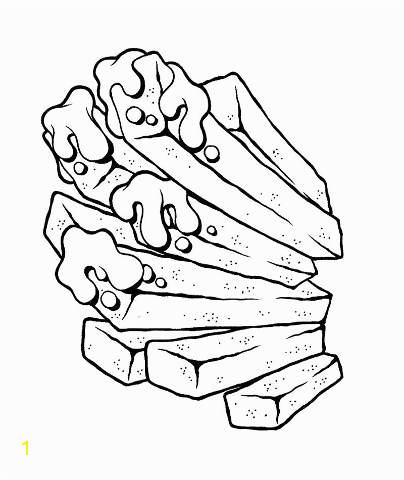 Junk Food Coloring Pages Junk Food Fries Coloring Page Kids
