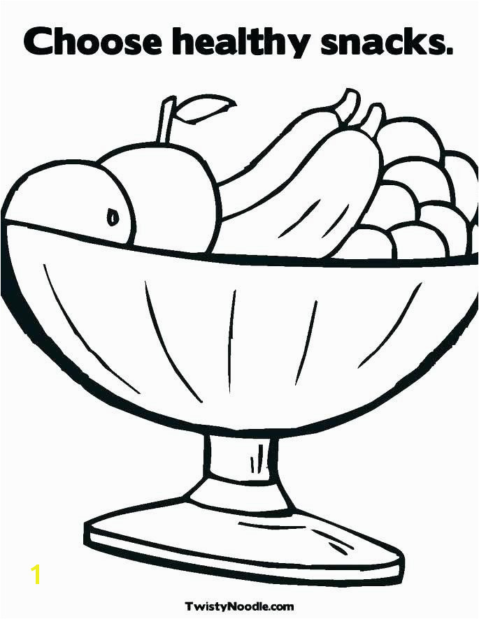 Healthy Food Coloring Pages New Healthy Food Coloring Pages New Fast Food Coloring Pages Coloring