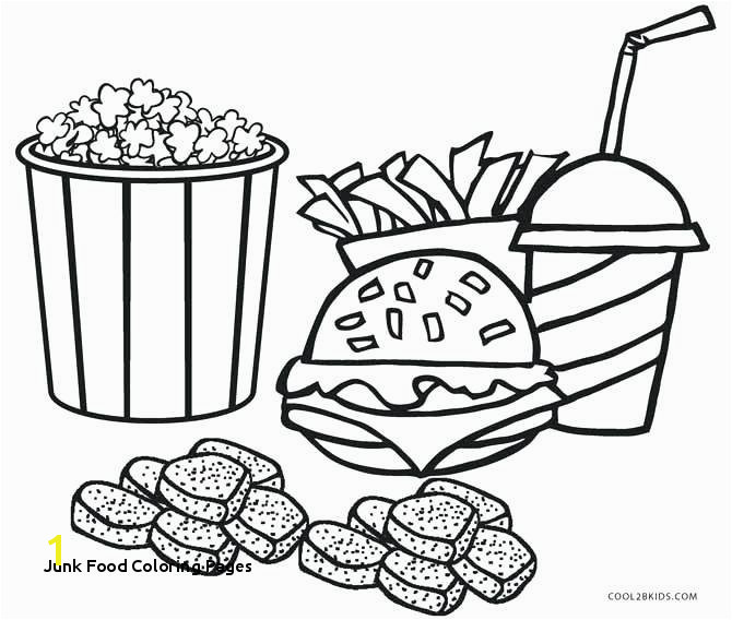 Interesting M Fast Food Coloring Pages Junk Food Coloring