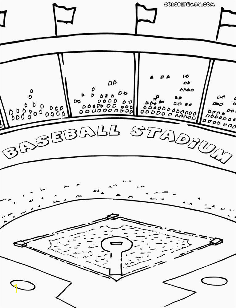 Baseball Field Coloring Pages New Baseball Field Coloring Page at Getcolorings Ideas Chicago Cubs Baseball