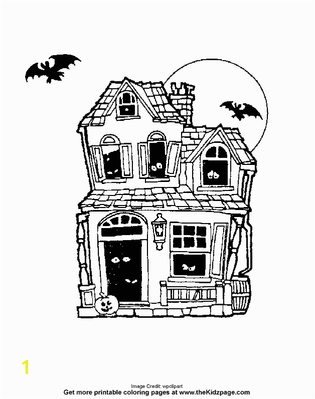 Halloween Haunted House Free Coloring Pages for Kids Printable Colouring Sheets House Colouring Pages