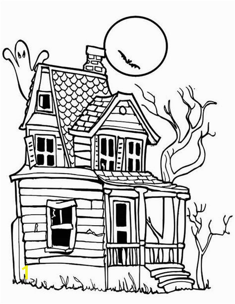 Haunted House Coloring Page Clipart Panda Free Clipart