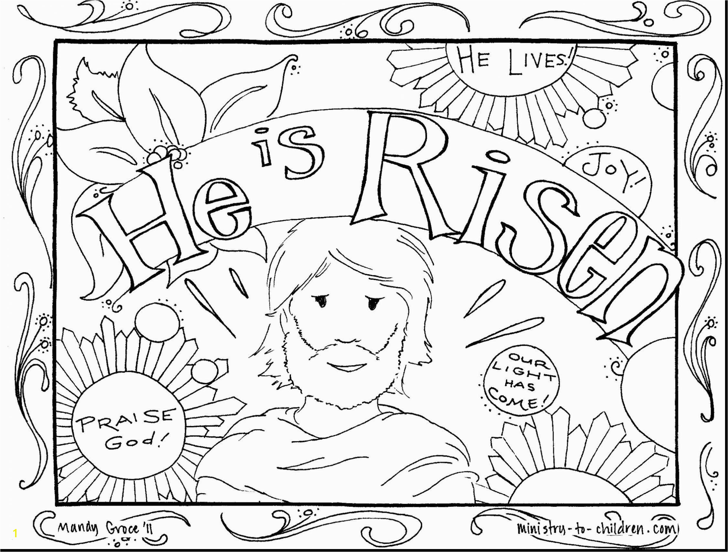 Coloring Pages Jesus Empty tomb