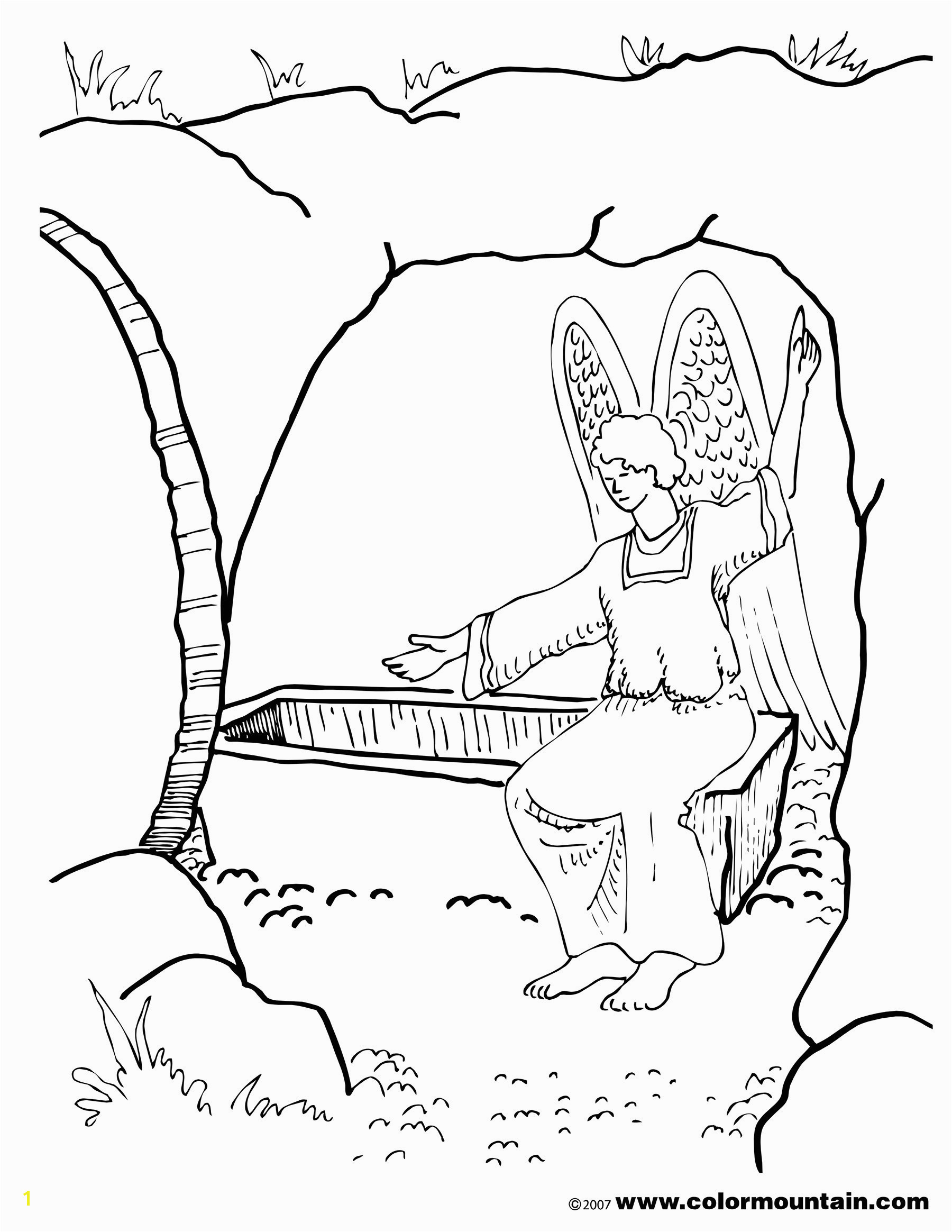 Coloring Pages Jesus Empty tomb Palm Sunday Coloring Pages Religious Best He is Risen Coloring