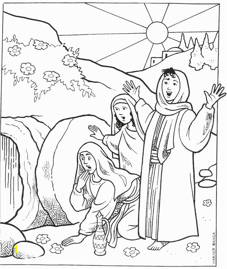 Jesus Empty tomb Coloring Page 116 Best Coloring Pages Bible Pinterest
