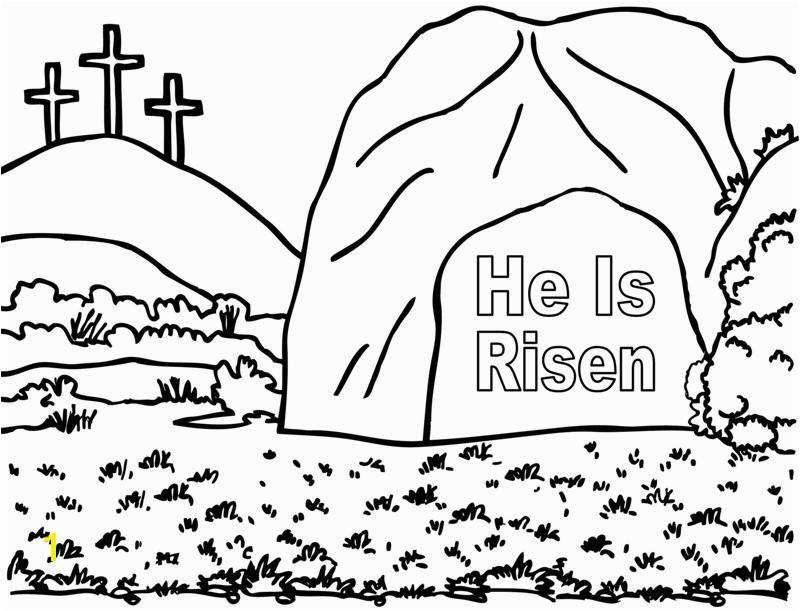 He is Risen Coloring Page Crafting the Word God Jesus Empty tomb Coloring Page