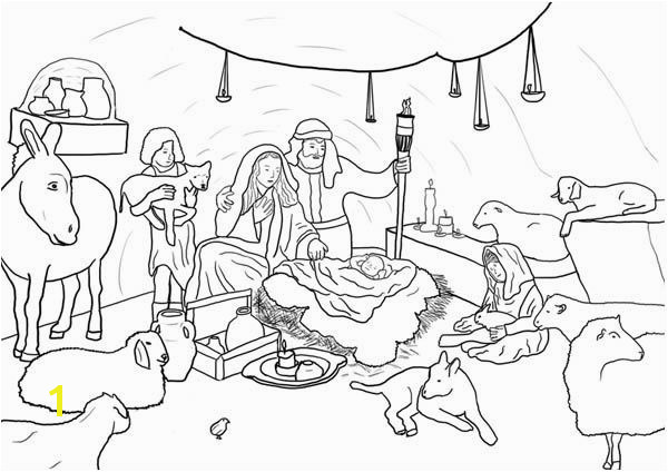 Nativity Jesus Born in Bethlehem in Nativity Coloring Page Jesus Born In Bethlehem In Nativity Coloring PageFull Size Image