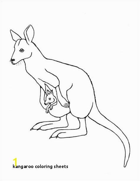 Kangaroo Coloring Sheets Kangaroo Coloring Page Australia