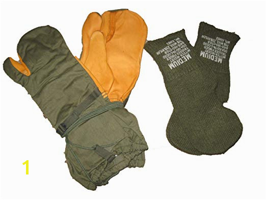 ficial US Military Surplus Army Winter Mittens Gloves Size