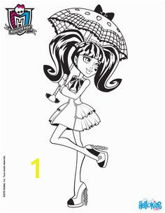 MONSTER HIGH coloring pages Draculaura s umbrella Umbrella Coloring Page Monster High Clothes Cool
