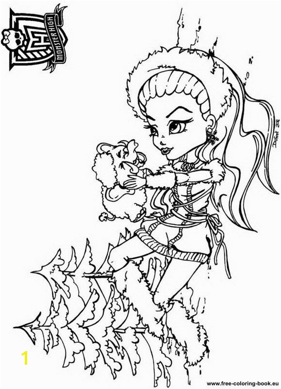 Coloring pages Monster High Page 1 Printable Coloring Pages line