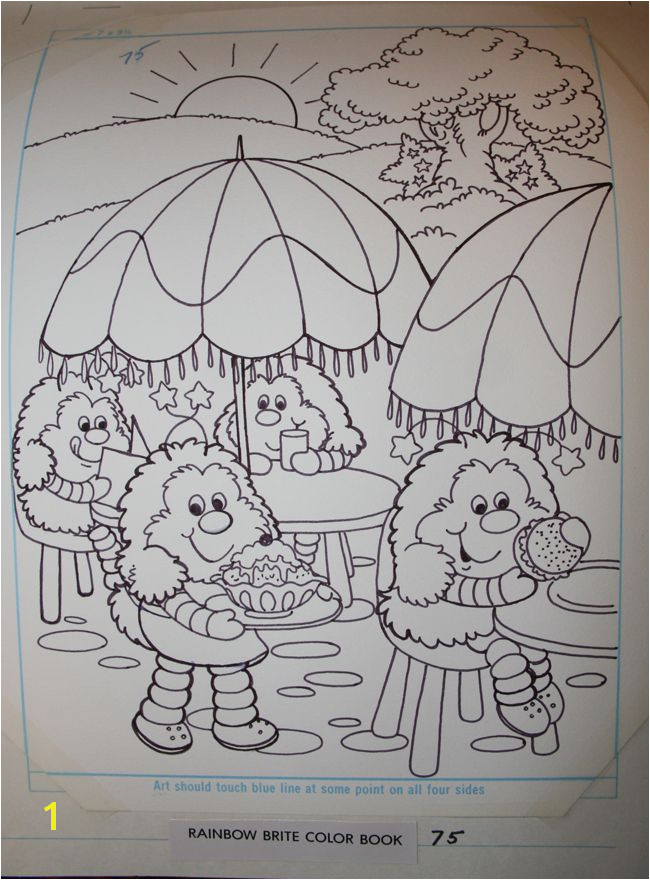 Sprites at Rainbow Cafe Coloring Book Page Layout Color Sheets Rainbow Brite Coloring Book