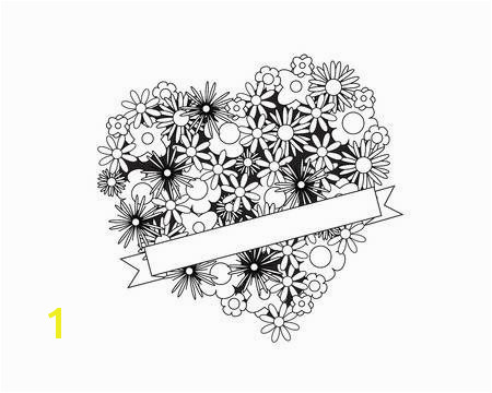 Coloring Pages Hearts and Flowers Awesome Coloring Page for Adult Od Kids Simple Floral Heart