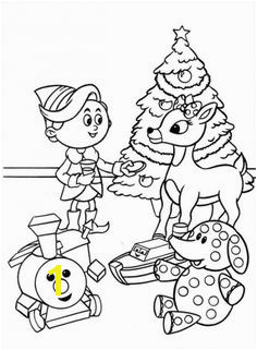 Rudolph the Red Nosed Christmas Reindeer Coloring Pages Free Printable Coloring Pages for Kids Coloring Books
