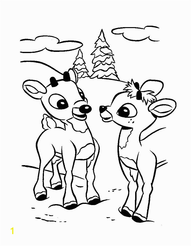 rudolph the red nosed reindeer coloring pictures christmas santa s reindeer coloring pages 12