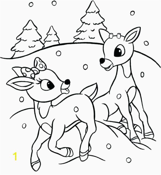Cute Rudolph Coloring Pages New Santa and Rudolph Coloring Pages the Red Nosed Reindeer Claus