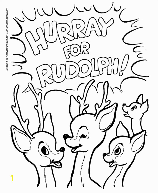 Rudolph Reindeer Coloring Page All of the other Reindeer Love Rudolph