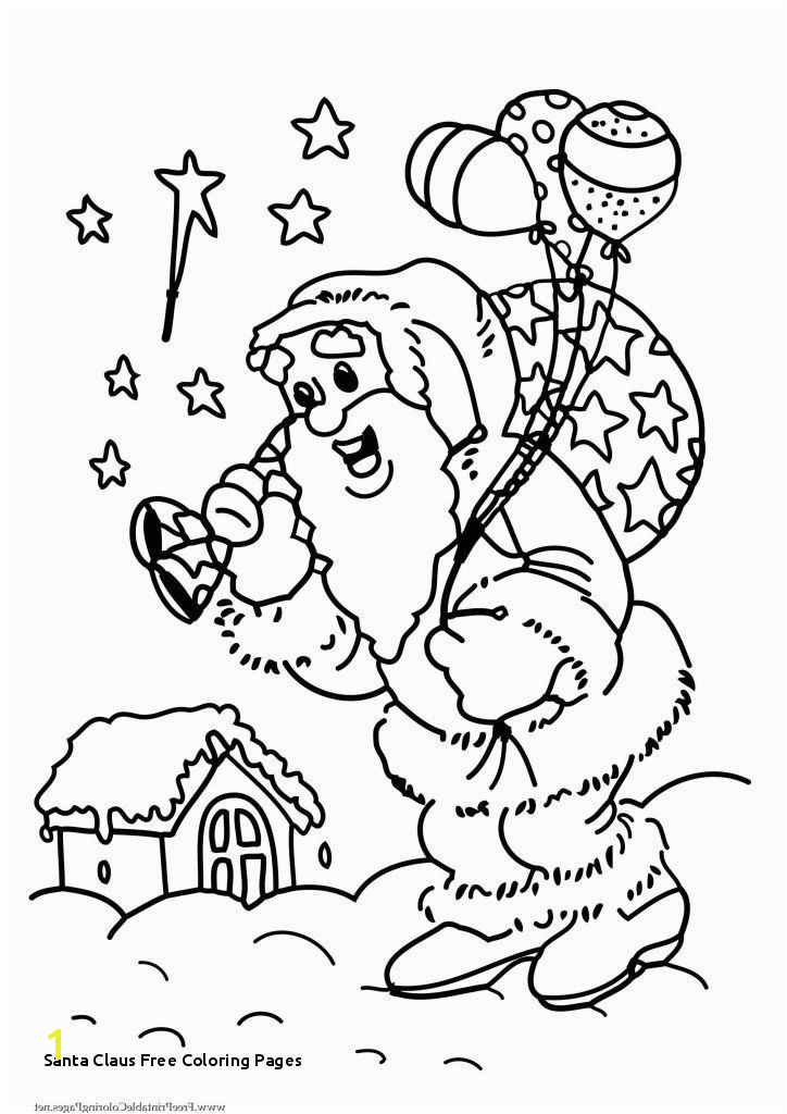 Santa Coloring Pages Printable Free Related Post