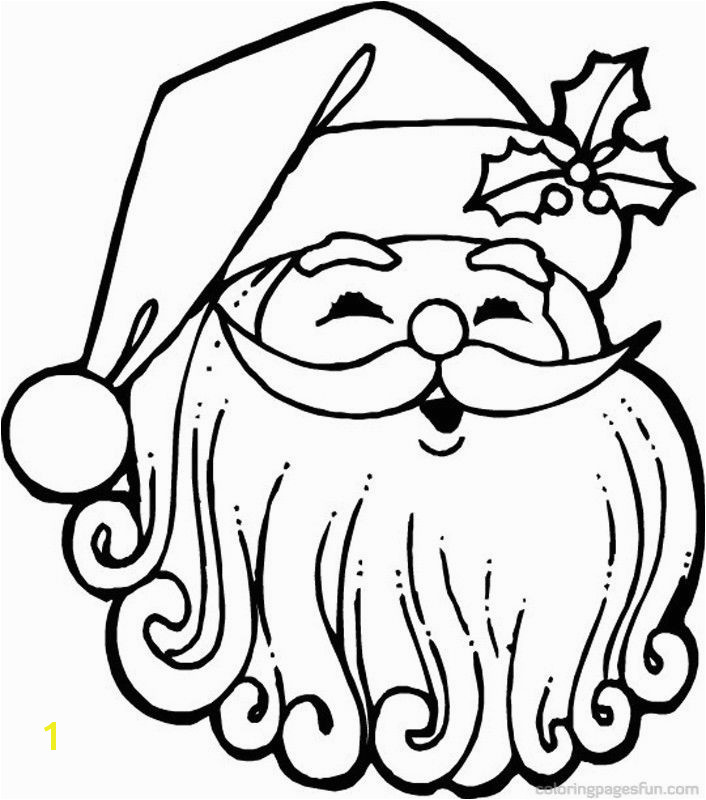Santa Claus Face Coloring Pages AZ Coloring Pages
