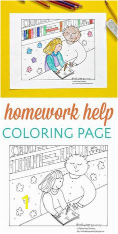Cute Classroom Coloring Page Homework Help from the Teacher