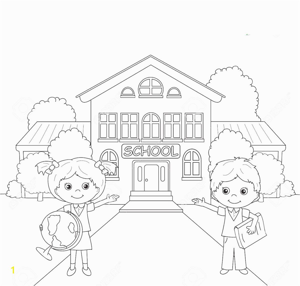 Coloring Pages School Building Elegant School Building Colouring Pages for Kids – Wurzen Coloring