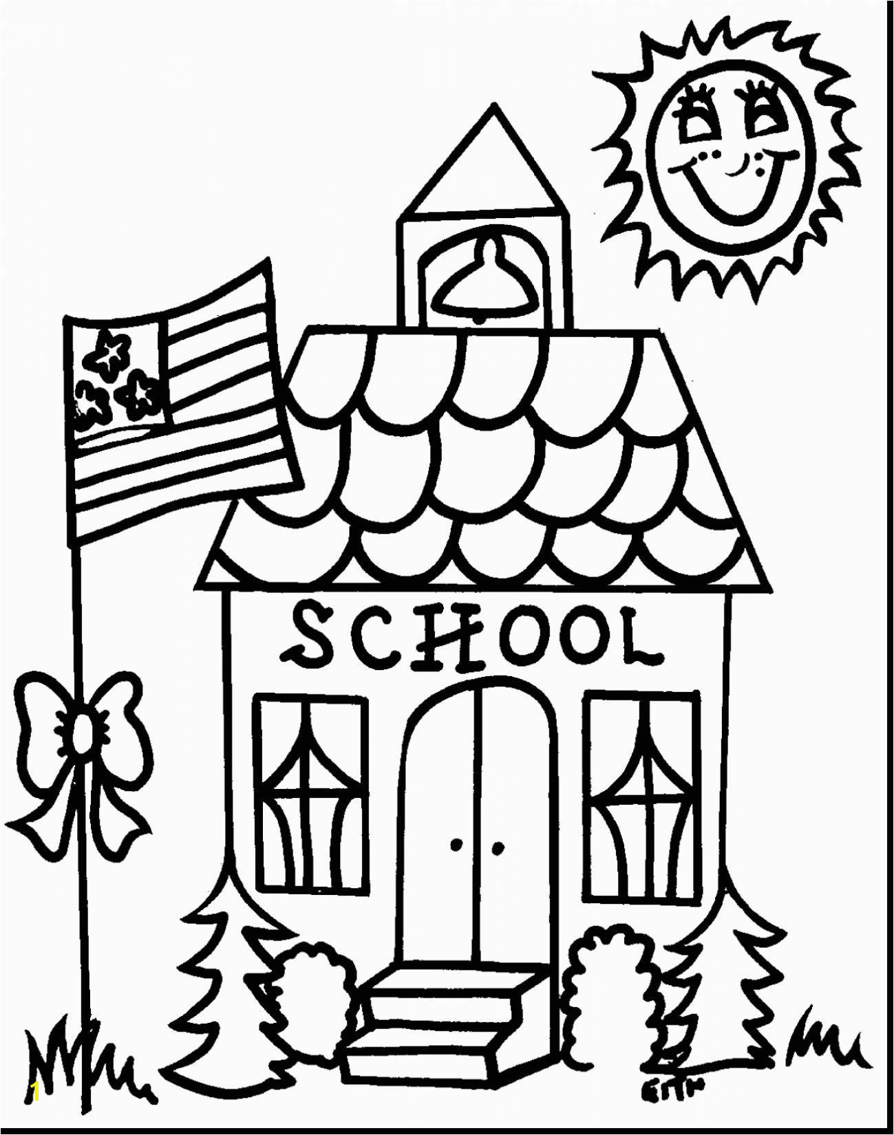 School Coloring Page 7