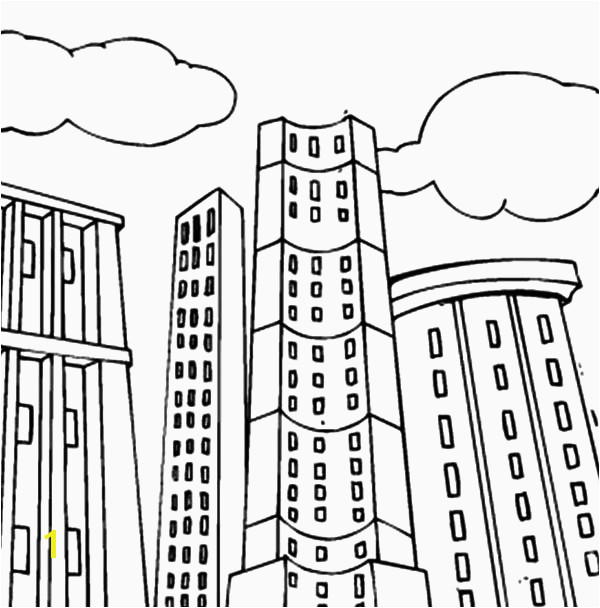 Strikingly Beautiful Building Coloring Pages School Page Free School Building Coloring Pages