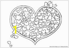 Valentine s Day Heart Candy Coloring Page Candy Coloring Pages Printable Coloring Coloring Sheets