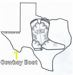 Texas Cowboy Coloring Page