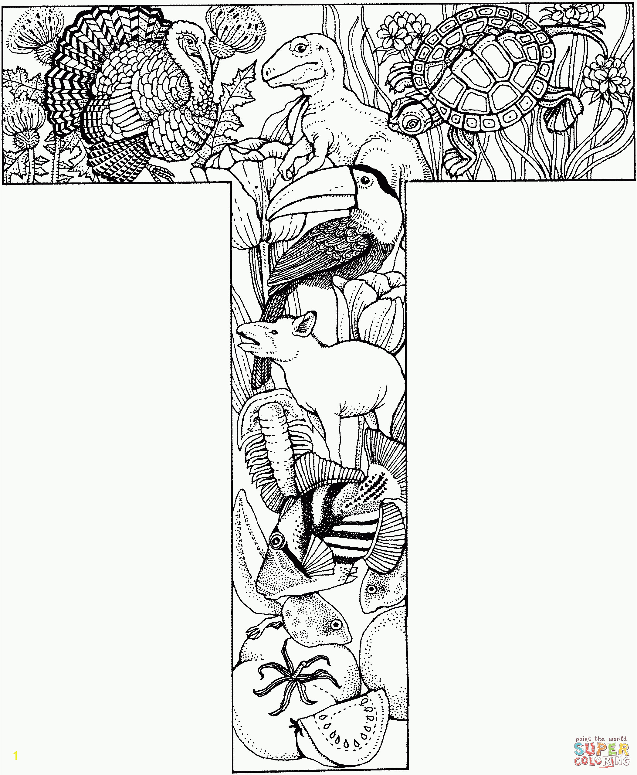 Coloring Pages Of the Letter T Letter T Coloring Pages