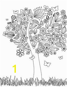 coloring page Tree Coloring Page Flower Coloring Pages Coloring Pages For Grown Ups