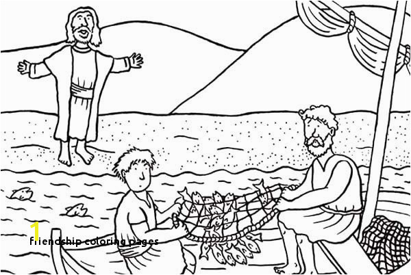 Friendship Coloring Pages Jesus and Friends Coloring Pages Fresh Disciples Od Christ Catching