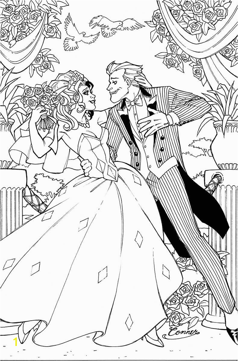 Harley Quinn & Joker Wedding Wedding Coloring Pages Adult Coloring Pages Coloring Books