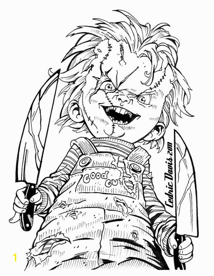 Image result for Scary Horror Coloring Pages