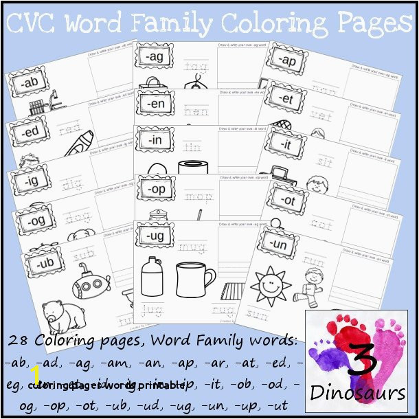 Coloring Pages Words Printable Word Family Coloring Pages Unique New Cvc Word Family Coloring Pages