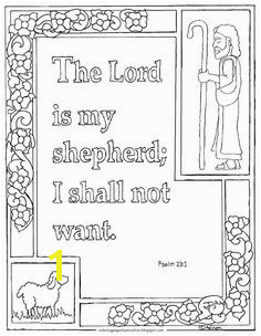 Coloring Pages for Kids by Mr Adron Printable Psalm 23 1 ""