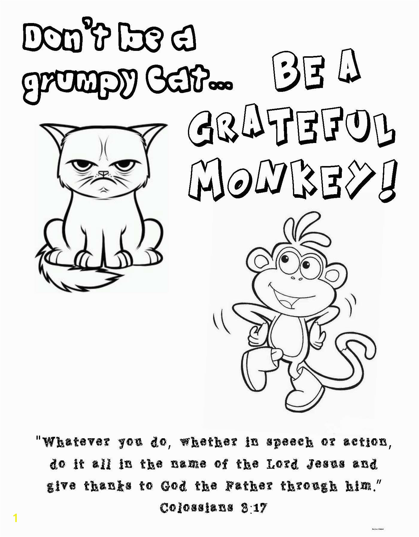God Loves A Cheerful Giver Coloring Page Colossians 3 17 Coloring Page Grumpy Cat Boots From