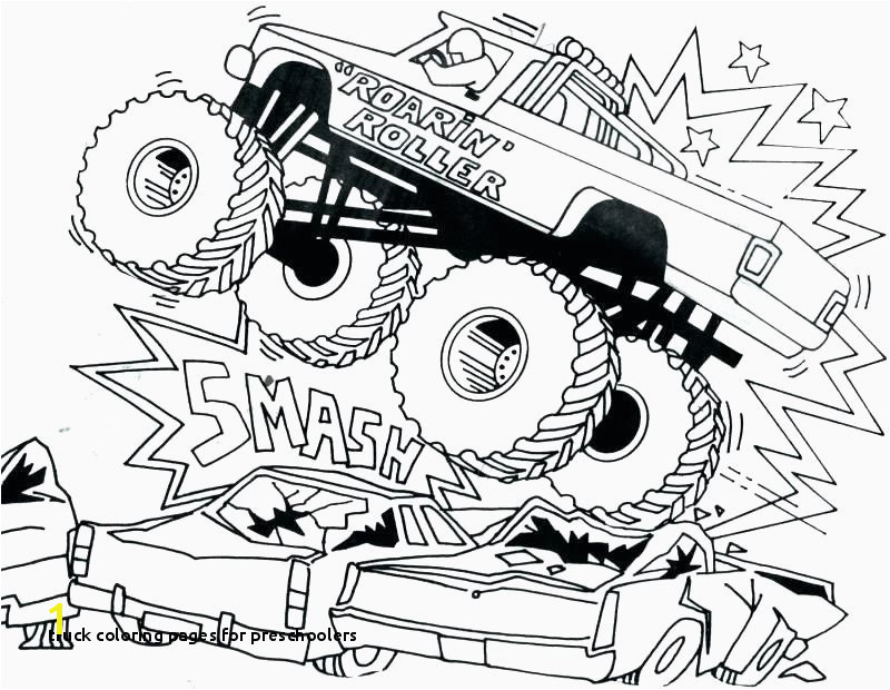 Gallery Truck Coloring Pages for Preschoolers 36 New Monster Trucks Printable Coloring Pages Gallery
