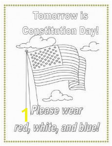 Wear red white and blue on Constitution Day Get a free coloring page for students plus ideas for Constitution Day