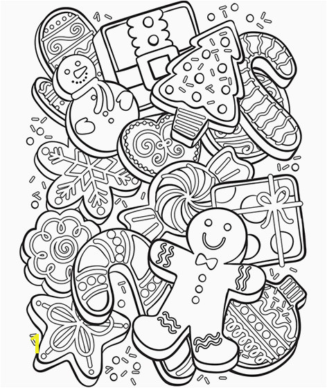 Christmas Cookie Collage Coloring Page Cool Coloring Page Unique Witch Coloring Pages New Crayola Pages