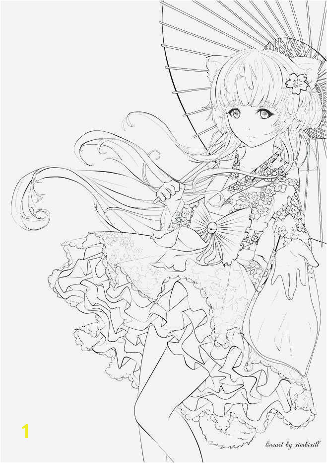 Top Coloring Page Fresh Anime Girl Coloring Page Model Witch Coloring Page Inspirational