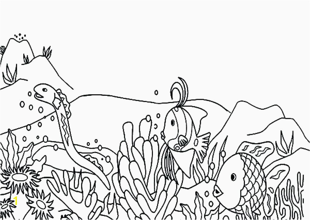 Coral Coloring Pages Awesome Coral Reef Coloring Page Coral Coloring Page Tropical Fish Coral 10