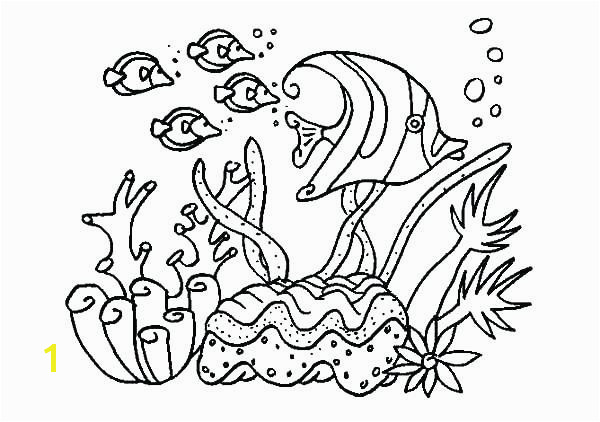 coral coloring pages kids for girls in snazzy page printable draw ocean of