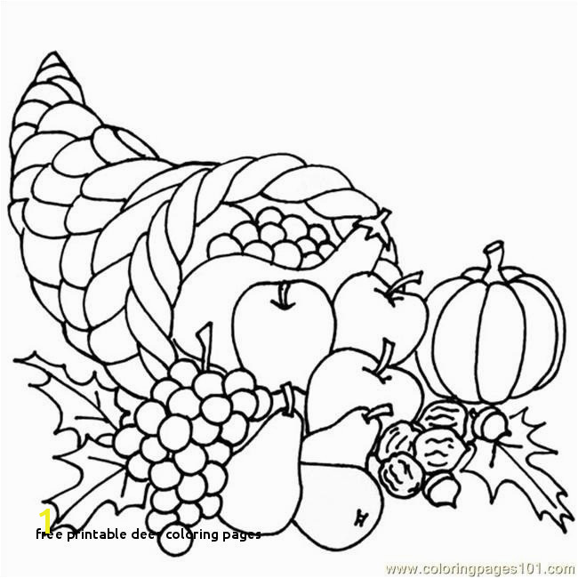 Free Printable Deer Coloring Pages Free Printable Cornucopia Coloring Pages