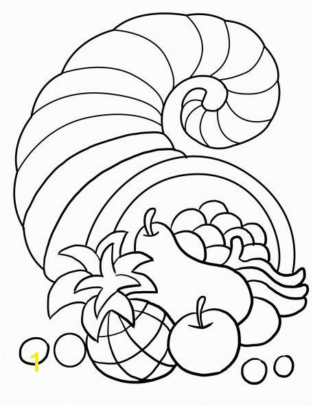 Thanksgiving Song and Free Printable Cornucopia Coloring Page for Kids