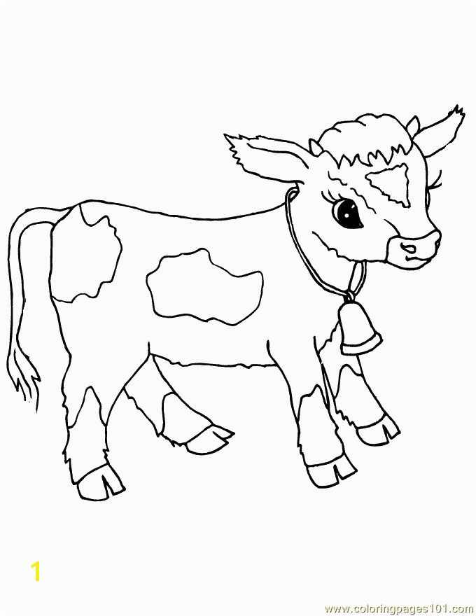 Baby cow Coloring Pinterest
